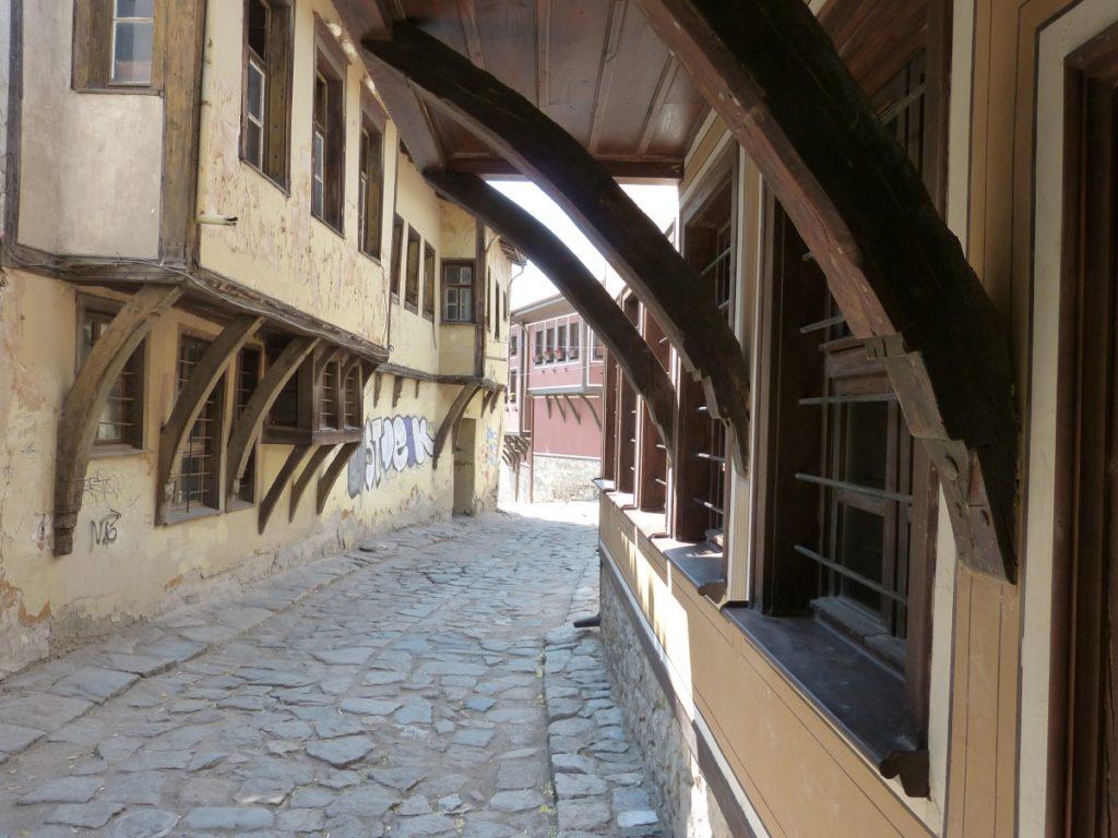 Uliczka z renesansową zabudową w Płowdiw.