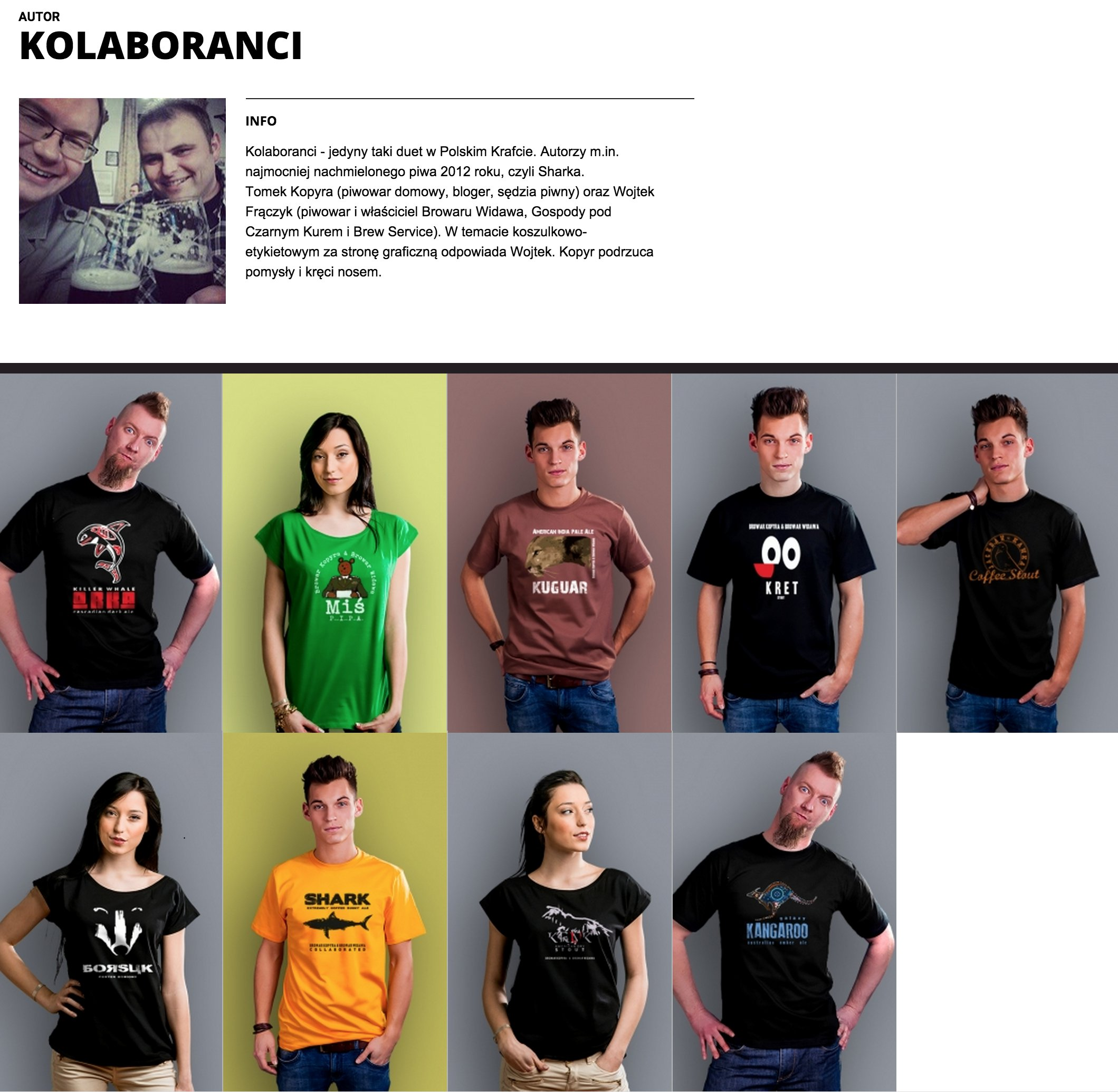 kolaboranci koszulki